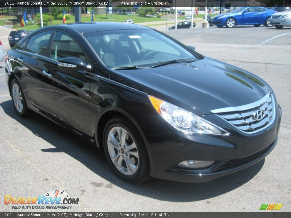 2011 Hyundai Sonata Limited 2 0t Midnight Black Gray