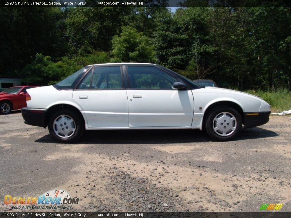 White 1993 saturn s series sl1 sedan photo 4 dealerrevs com