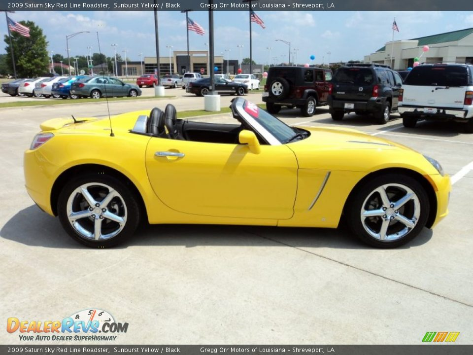 sunburst yellow 2009 saturn sky red line roadster photo 4. Black Bedroom Furniture Sets. Home Design Ideas