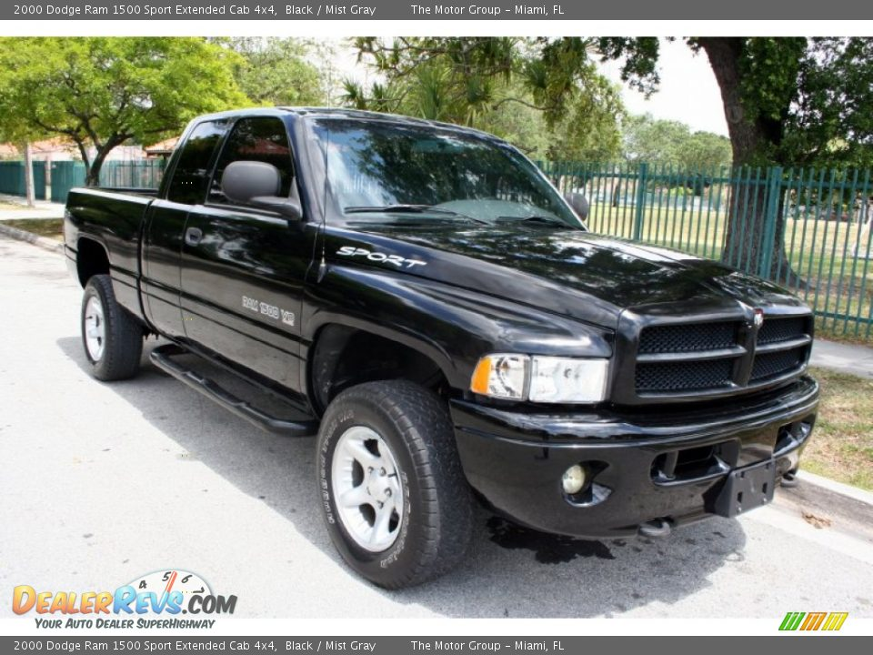 2000 dodge ram 1500 sport extended cab 4x4 black mist gray photo 14. Black Bedroom Furniture Sets. Home Design Ideas