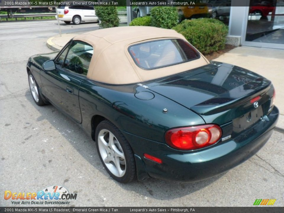 2001 Mazda Mx 5 Miata Ls Roadster Emerald Green Mica Tan
