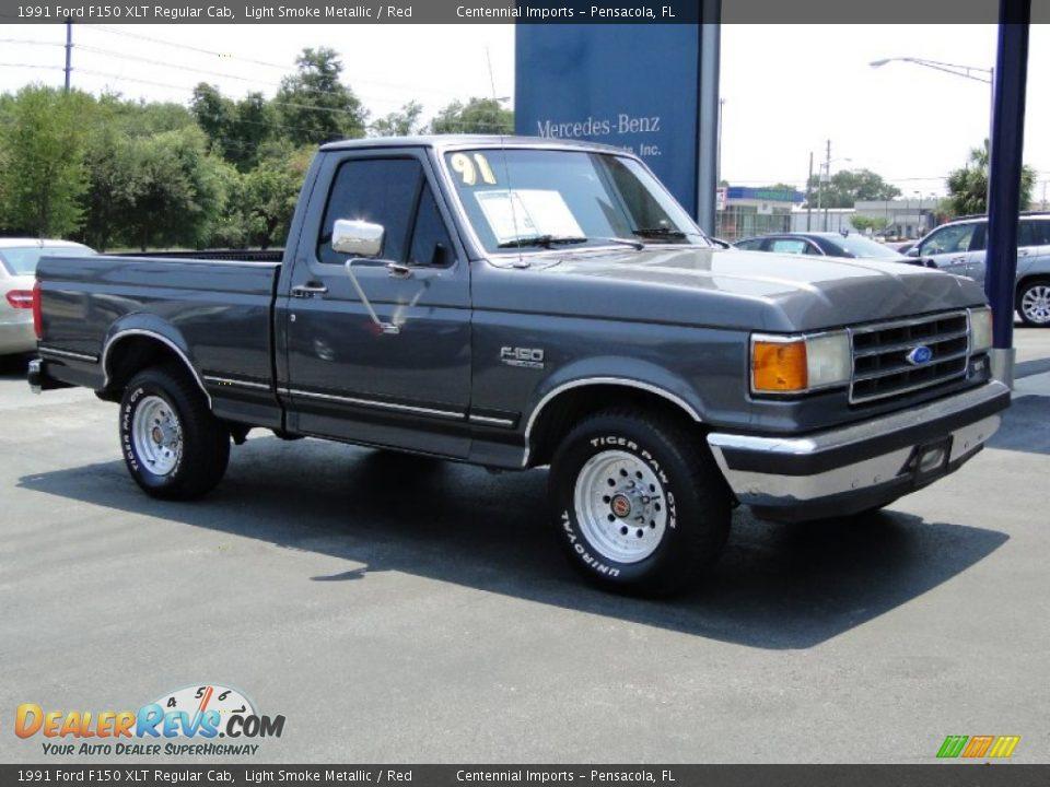 Ford Dealer Locator >> 1991 Ford F150 XLT Regular Cab Light Smoke Metallic / Red Photo #12 | DealerRevs.com