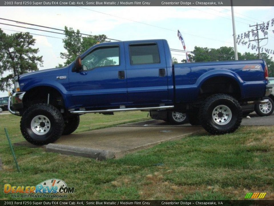 Sonic Blue Metallic 2003 Ford F250 Super Duty Fx4 Crew Cab