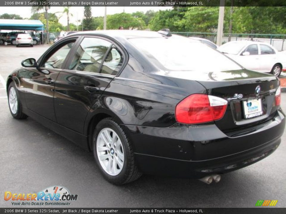 2006 bmw 3 series 325i sedan jet black beige dakota. Black Bedroom Furniture Sets. Home Design Ideas