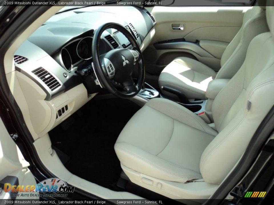 Beige interior 2009 mitsubishi outlander xls photo 18 dealerrevs com