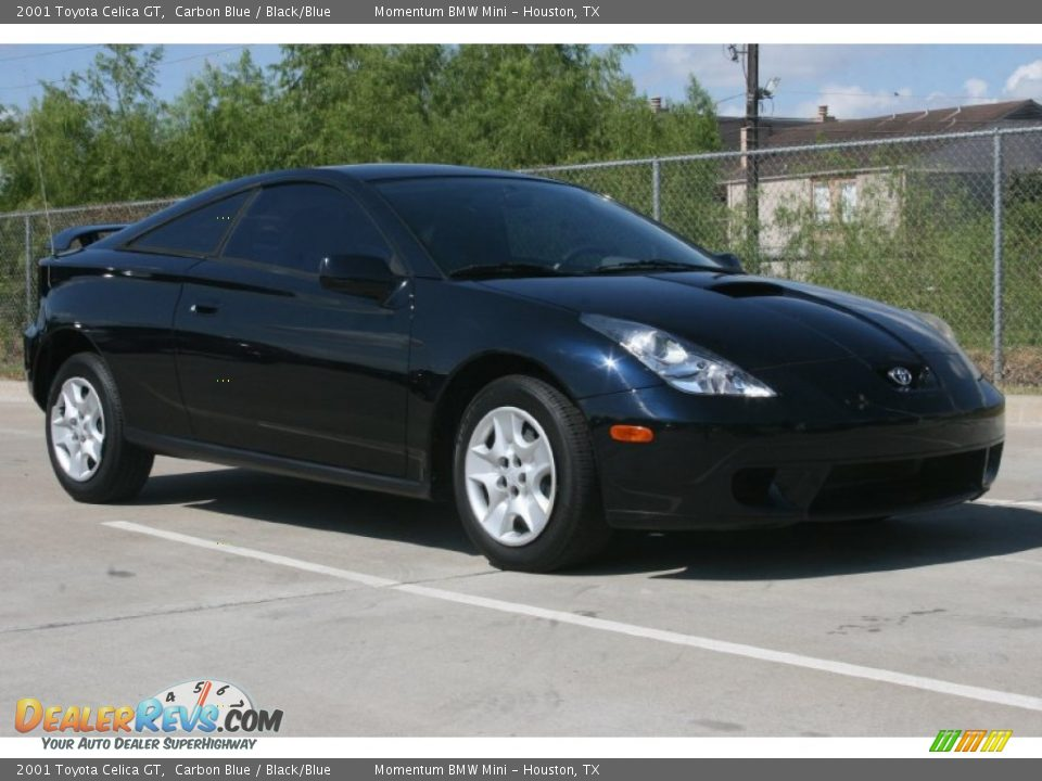 2001 Toyota Celica GT Carbon Blue / Black/Blue Photo #3 | DealerRevs ...