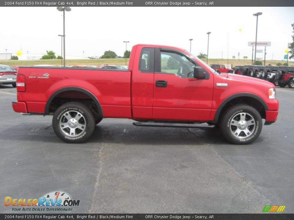 2004 ford f150 fx4 regular cab 4x4 bright red black. Black Bedroom Furniture Sets. Home Design Ideas