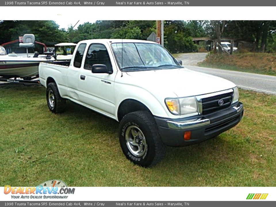1998 toyota tacoma sr5 extended cab 4x4 white gray photo. Black Bedroom Furniture Sets. Home Design Ideas