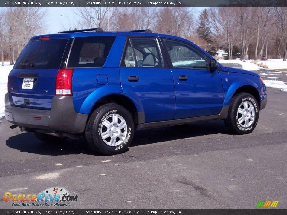 2003 Saturn VUE V6 Bright Blue / Gray Photo #6 | DealerRevs.com