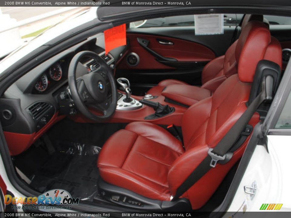 Indianapolis Red Interior 2008 Bmw M6 Convertible Photo 12