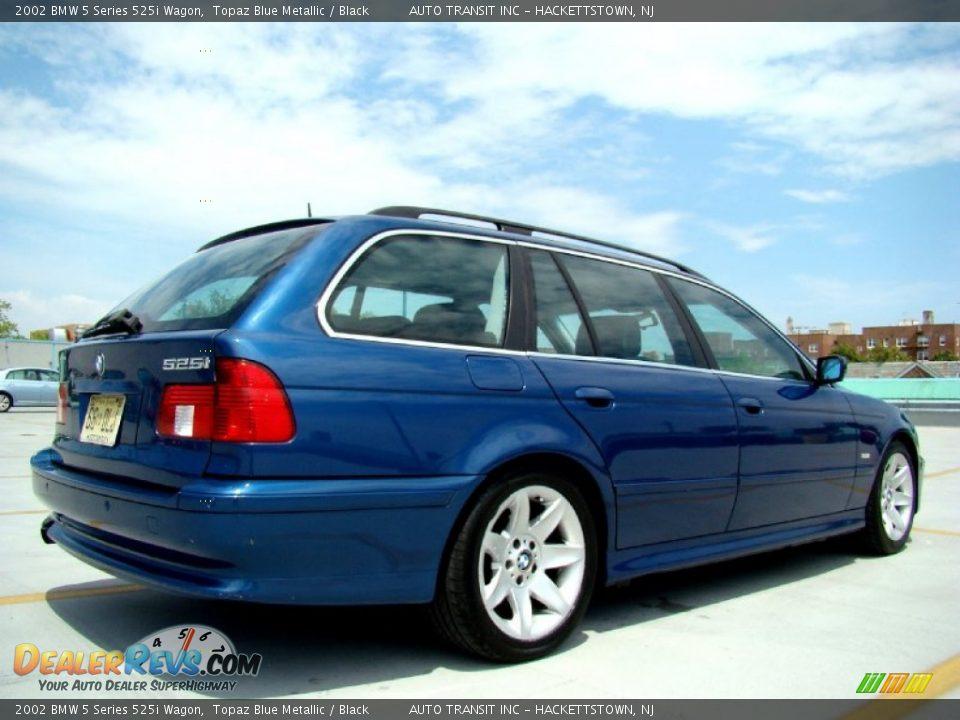 2002 Bmw 5 Series 525i Wagon Topaz Blue Metallic Black