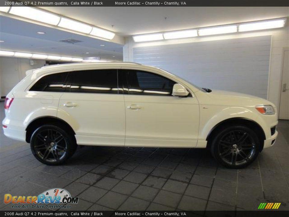 2008 Audi Q7 4 2 Premium Quattro Calla White Black Photo