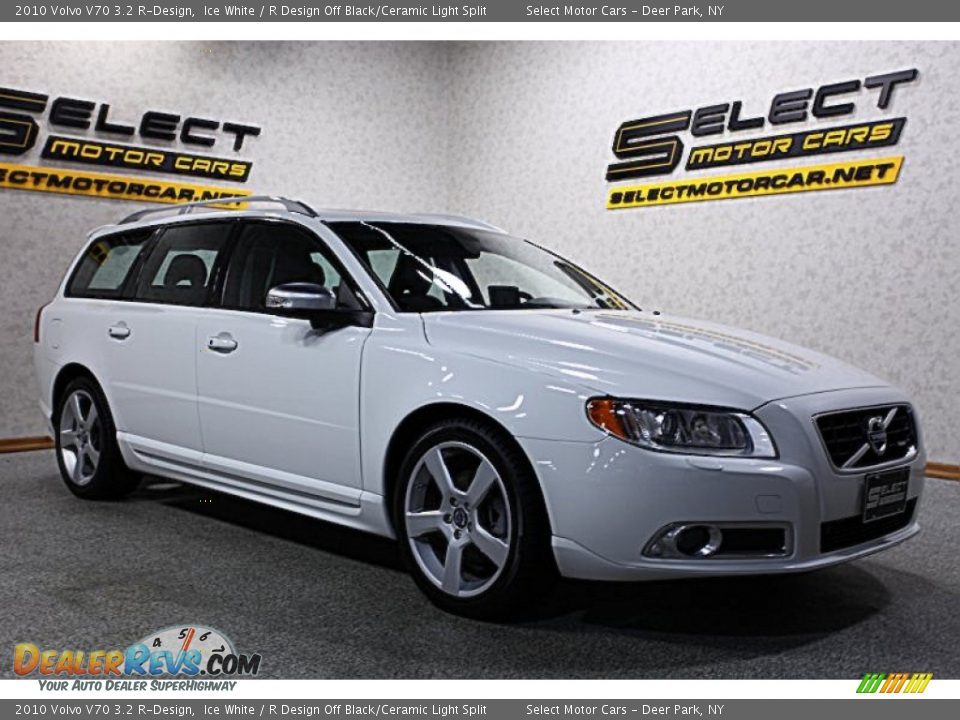 2010 Volvo V70 3.2 R-Design Ice White / R Design Off Black/Ceramic ...