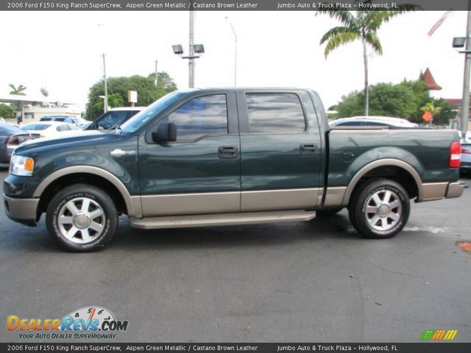 2006 ford f150 king ranch supercrew aspen green metallic castano brown leather photo 6. Black Bedroom Furniture Sets. Home Design Ideas