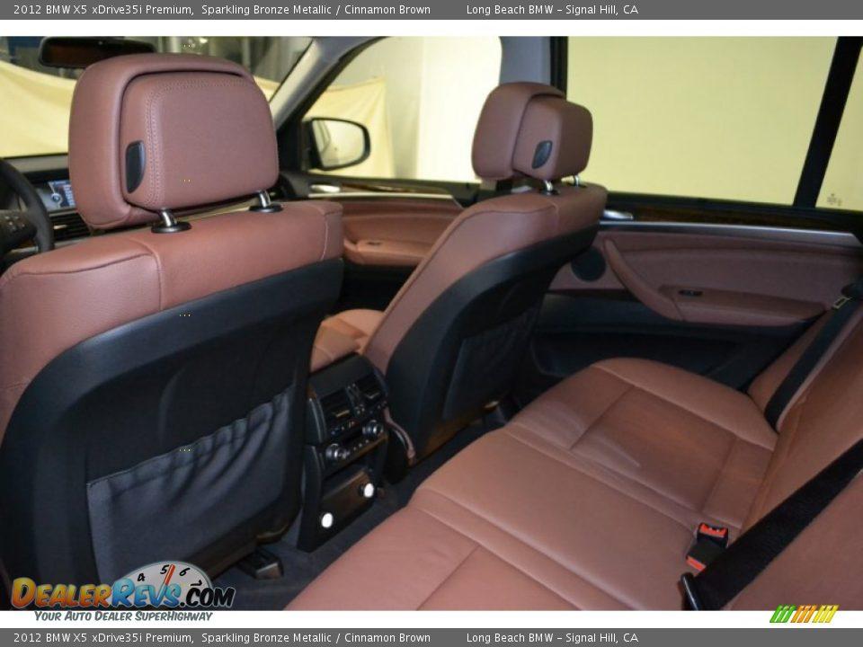 Cinnamon Brown Interior 2012 Bmw X5 Xdrive35i Premium