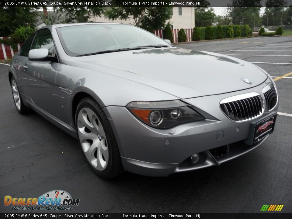 2005 bmw 6 series 645i coupe silver grey metallic black photo 2. Black Bedroom Furniture Sets. Home Design Ideas