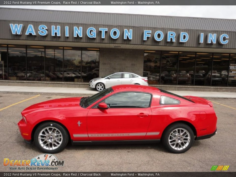 2012 ford mustang v6 premium coupe race red charcoal black photo 1. Black Bedroom Furniture Sets. Home Design Ideas