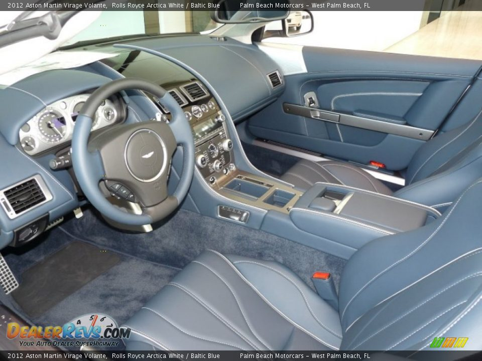 Baltic Blue Interior - 2012 Aston Martin Virage Volante Photo #17