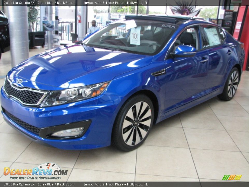 2011 kia optima sx corsa blue black sport photo 2. Black Bedroom Furniture Sets. Home Design Ideas