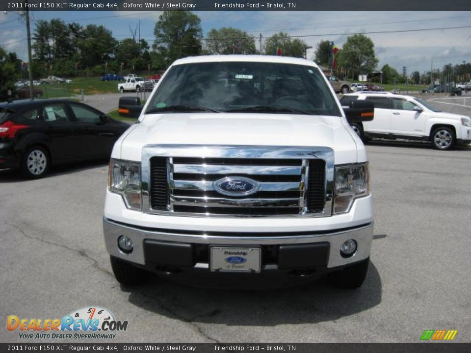 2011 ford f150 xlt regular cab 4x4 oxford white steel gray photo 3. Black Bedroom Furniture Sets. Home Design Ideas