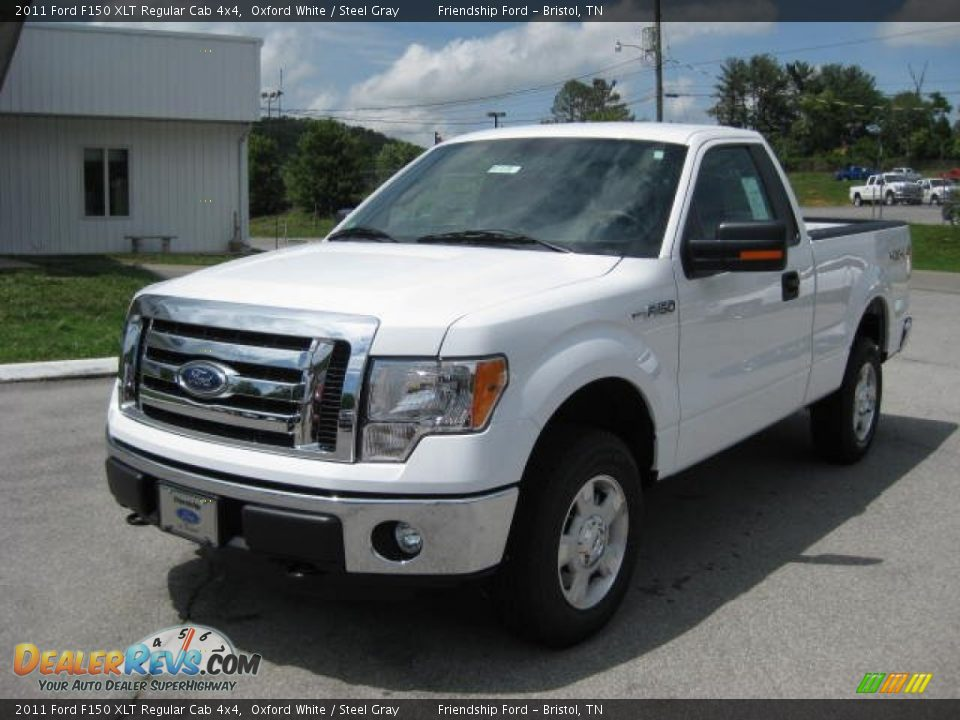 2011 ford f150 xlt regular cab 4x4 oxford white steel gray photo 2. Black Bedroom Furniture Sets. Home Design Ideas