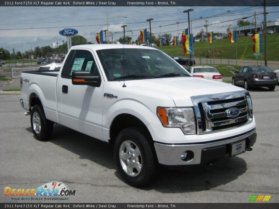 Front 3/4 View of 2011 Ford F150 XLT Regular Cab 4x4 Photo ...