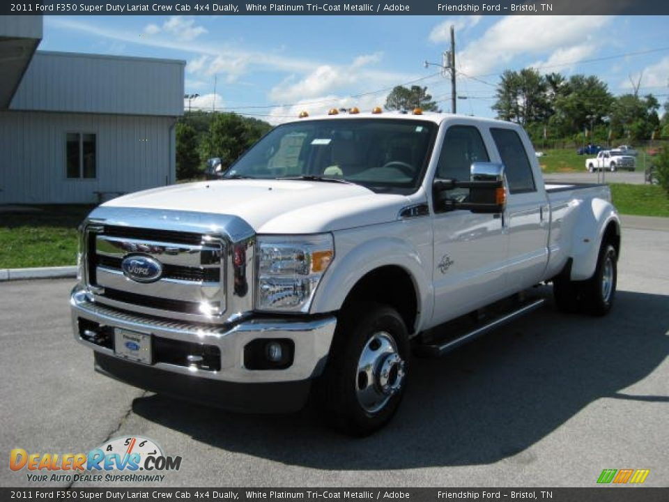 2011 ford f350 super duty lariat crew cab 4x4 dually white. Black Bedroom Furniture Sets. Home Design Ideas