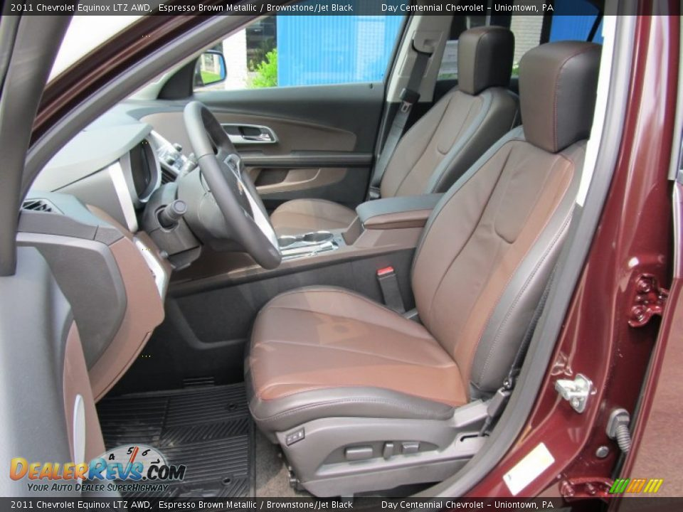 Brownstone Jet Black Interior 2011 Chevrolet Equinox Ltz