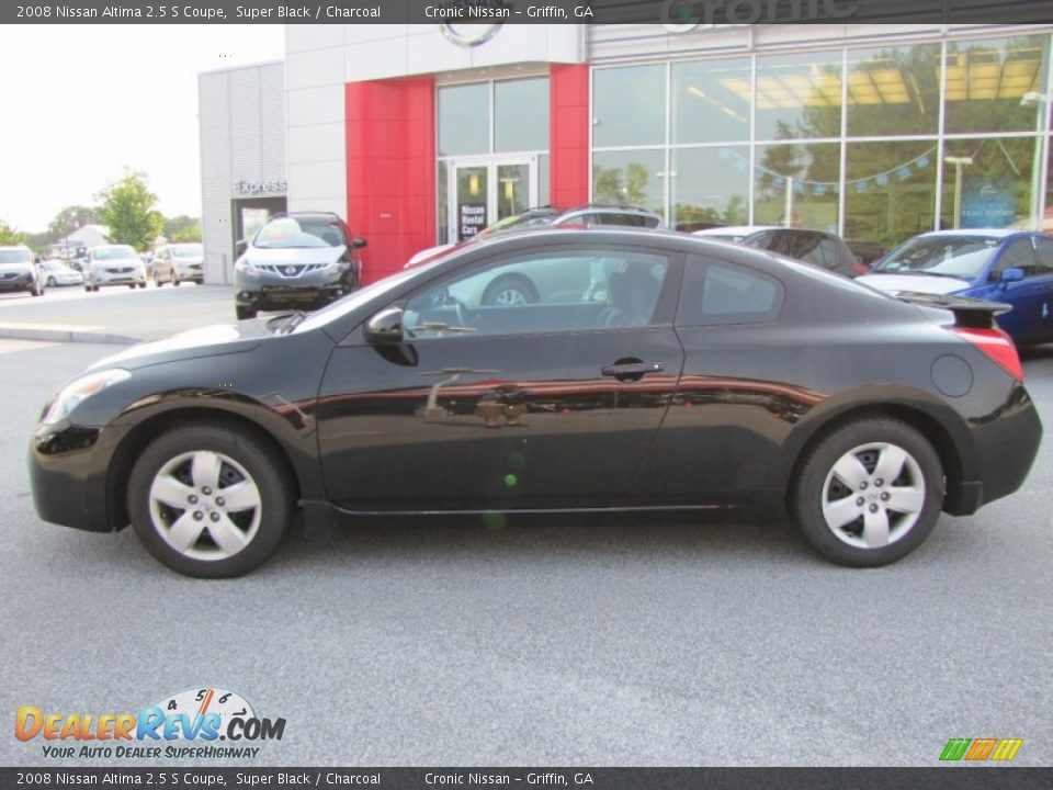 2008 nissan altima 2 5 s coupe super black charcoal photo 2. Black Bedroom Furniture Sets. Home Design Ideas