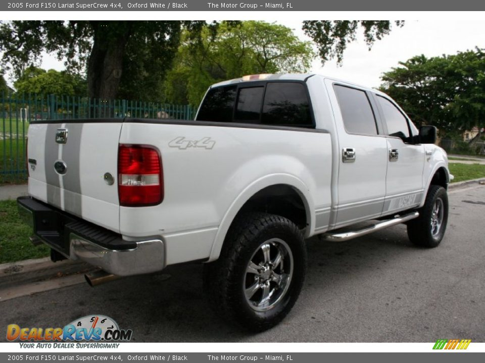 2005 ford f150 lariat supercrew 4x4 oxford white black photo 9. Black Bedroom Furniture Sets. Home Design Ideas