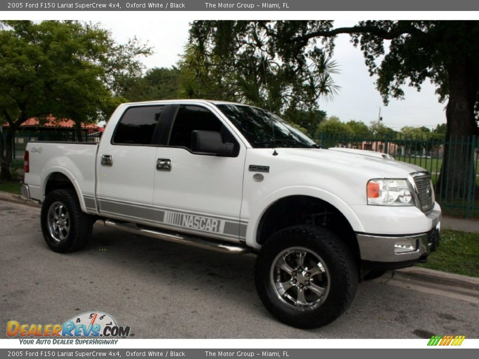 2005 ford f150 lariat supercrew 4x4 oxford white black photo 14. Black Bedroom Furniture Sets. Home Design Ideas