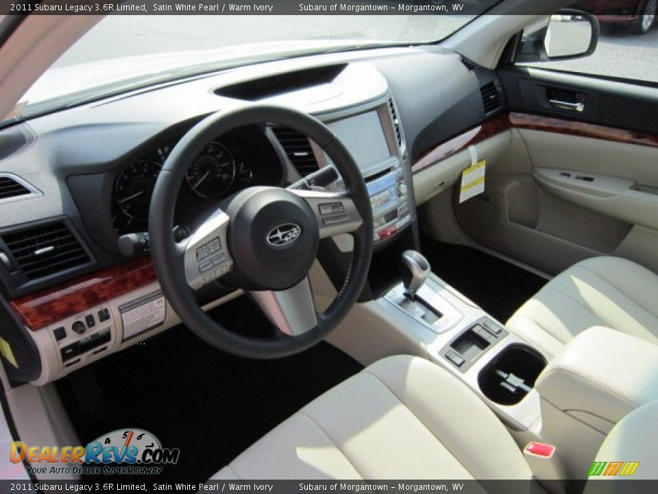 Warm Ivory Interior 2011 Subaru Legacy 3 6r Limited Photo 14