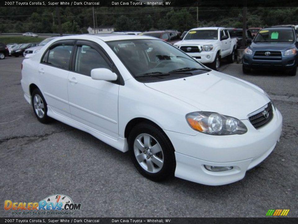 2007 Toyota Corolla S Super White Dark Charcoal Photo 1