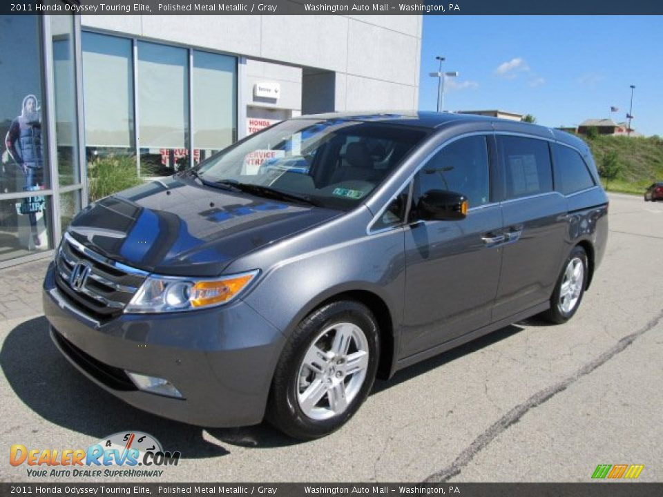 2011 Honda Odyssey Touring Elite Polished Metal Metallic Gray Photo 2 Dealerrevs Com