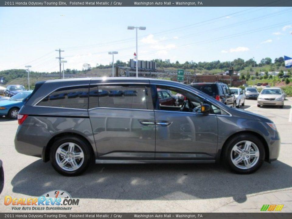 2011 Honda Odyssey Touring Elite Polished Metal Metallic Gray Photo 7 Dealerrevs Com