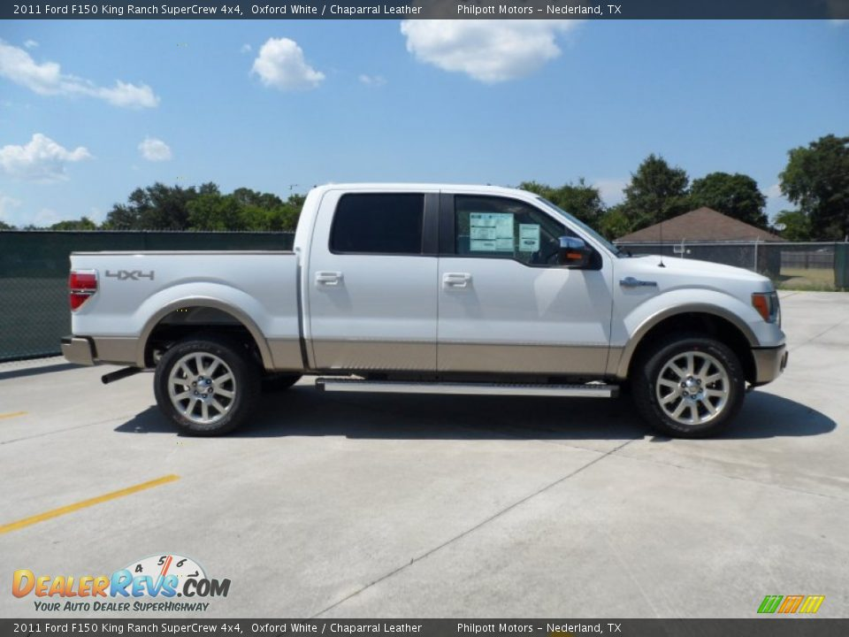2011 ford f150 king ranch supercrew 4x4 oxford white chaparral leather photo 2. Black Bedroom Furniture Sets. Home Design Ideas