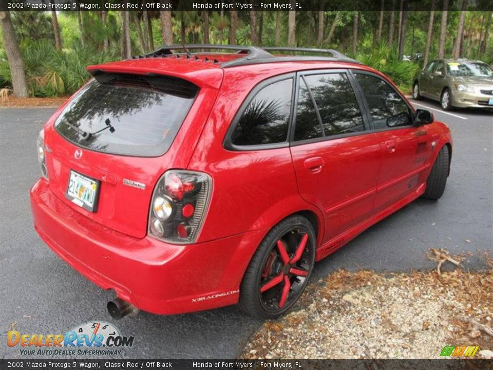 2002 mazda protege 5 wagon classic red off black photo. Black Bedroom Furniture Sets. Home Design Ideas