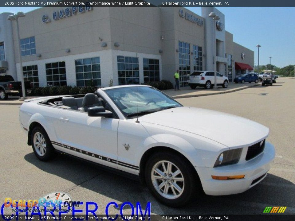 2009 Ford Mustang V6 Premium Convertible Performance White