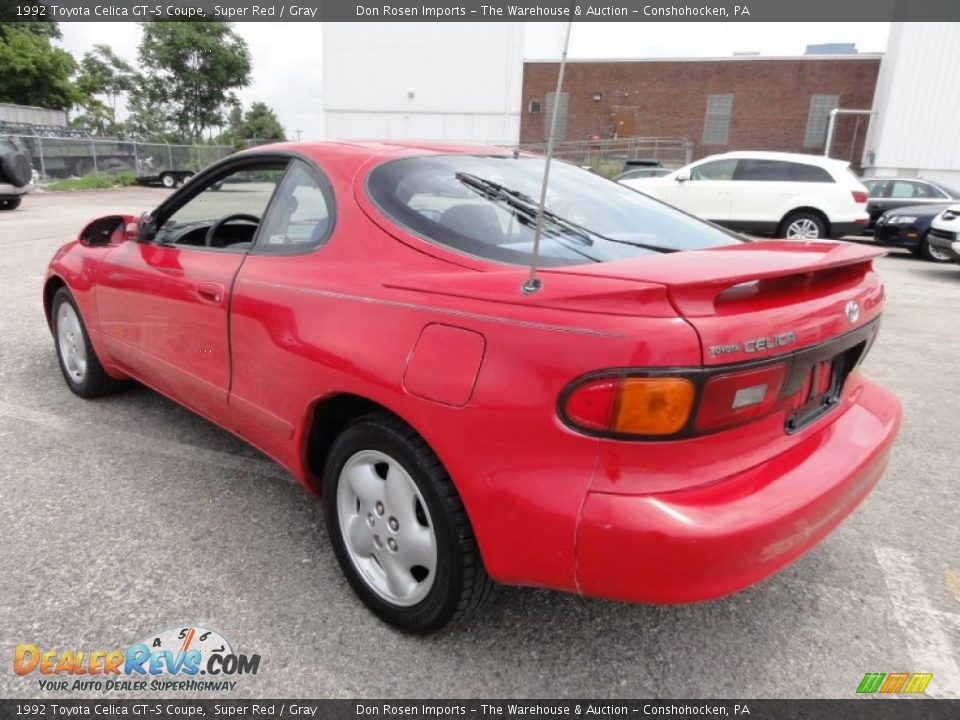 1992 toyota celica gt s coupe super red gray photo 10. Black Bedroom Furniture Sets. Home Design Ideas