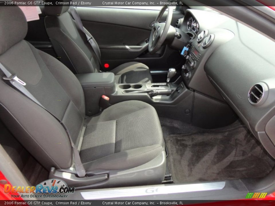 Ebony Interior 2006 Pontiac G6 Gtp Coupe Photo 13