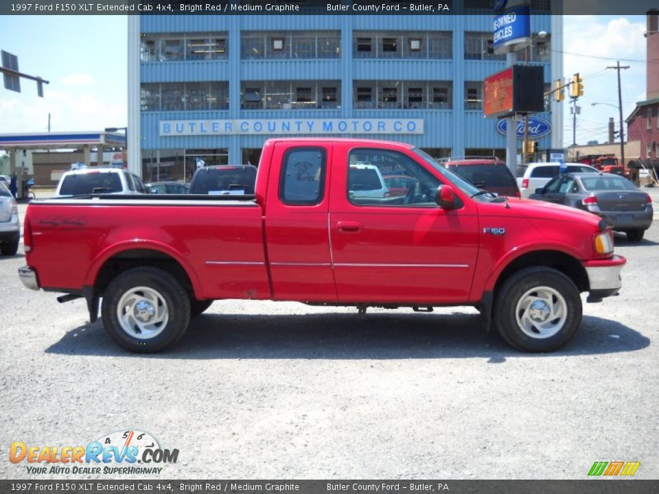 1997 ford f150 xlt extended cab 4x4 bright red medium graphite photo 1. Black Bedroom Furniture Sets. Home Design Ideas