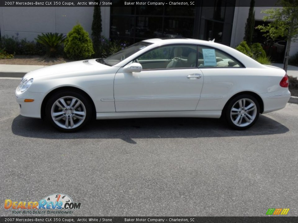 2007 mercedes benz clk 350 coupe arctic white stone for 2007 mercedes benz clk