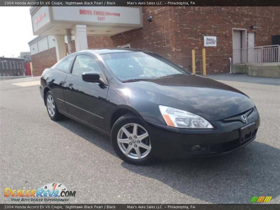 2004 honda accord ex v6 coupe nighthawk black pearl black photo 2. Black Bedroom Furniture Sets. Home Design Ideas