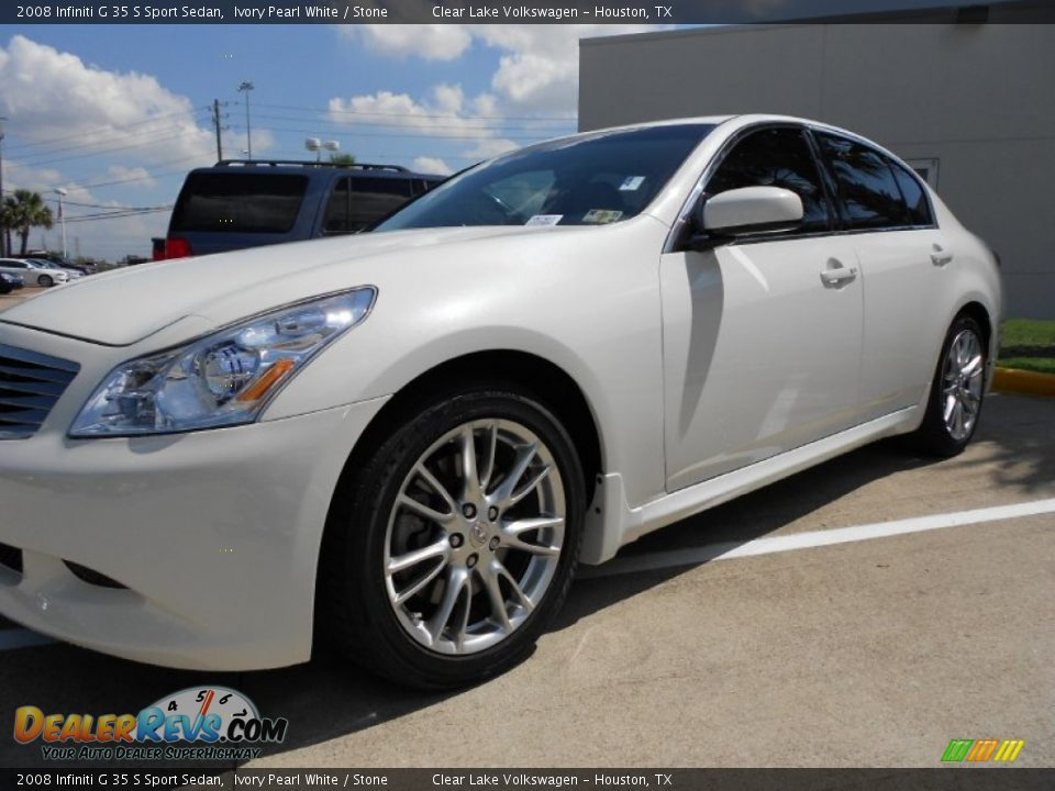 2008 infiniti g 35 s sport sedan ivory pearl white stone for G stone motors used cars