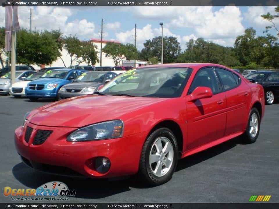 2008 Pontiac Grand Prix Sedan Crimson Red Ebony Photo 3
