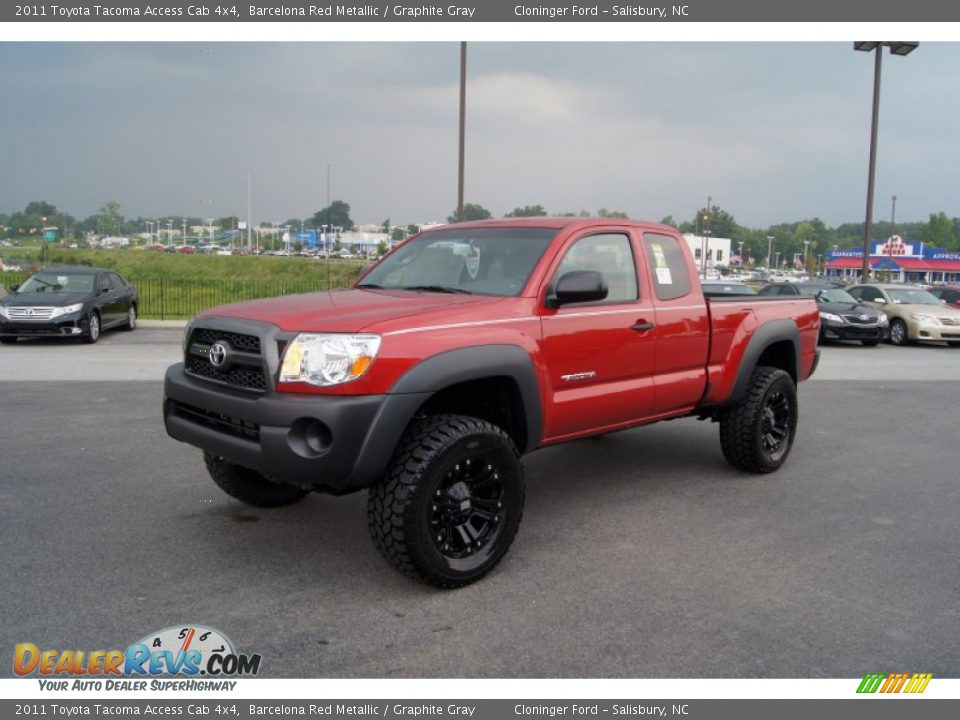 2011 toyota tacoma access cab 4x4 barcelona red metallic graphite gray photo 6. Black Bedroom Furniture Sets. Home Design Ideas