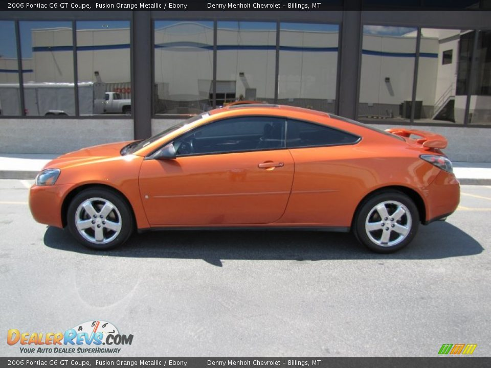 2006 pontiac g6 gt coupe fusion orange metallic ebony photo 2. Black Bedroom Furniture Sets. Home Design Ideas