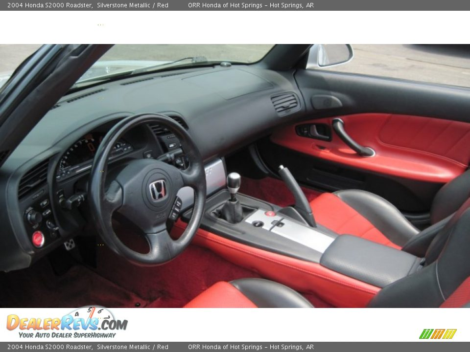 Red Interior 2004 Honda S2000 Roadster Photo 12
