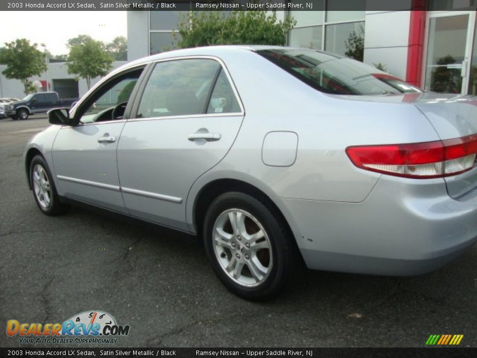 2003 Honda Accord Lx Sedan Satin Silver Metallic Black