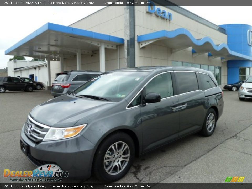 2011 Honda Odyssey Ex L Polished Metal Metallic Gray Photo 1 Dealerrevs Com